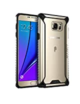 Galaxy Note 5 Case, POETIC Affinity Series [Premium Thin]/No Bulk/ Protection where its needed/Clear/Dual Material Protective Bumper Case for Samsung Galaxy Note 5 (2015 Release) (Black/Clear)