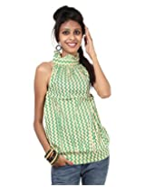 Rajrang Womens Cotton Kurta -Green -Small