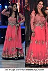 Bollywood Replica Madhuri Dixit Net and Santool Suit In Pink Colour NC614