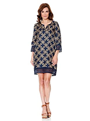 Cortefiel Kleid Crochet (Blau)