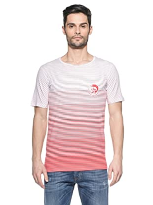 Diesel Camiseta T6Five (Blanco / Rojo)