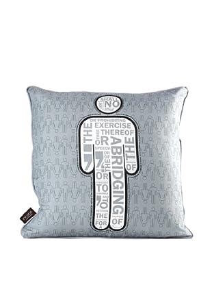 Inhabit AM 1 Pillow, Gray & White