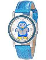 Frenzy Kids' FR462 Blue Glitter Strap Penguin Watch