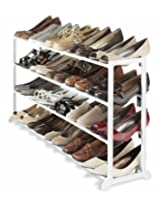 Whitmor Shoe Rack (White, 20 Pair)