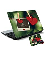 Printland Vinyl Laptop Skin Size 15.6 x 10 Inches with Mouse Pad LS162941