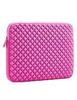 Evecase 10.6 - 11.6 inch Diamond Foam Splash & Shock Resistant Chromebook/ Ultrabook Neoprene Sleeve Case Travel Bag - Hot Pink