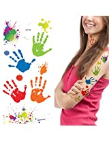 Supperb® Temporary Tattoos - Hand Paints & Splashing Paint