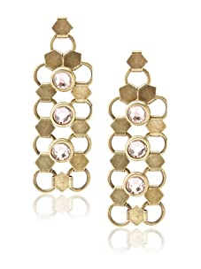 Lionette Designs by Noa Sade Gold Antique and Pink Taylor Mesh Drop Earrings