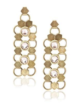 Lionette Designs by Noa Sade Gold Antique & Pink Taylor Mesh Drop Earrings