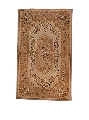 L'Eden del Tappeto Teppich Aubusson braun 248t x t150 cm
