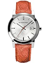 Burberry Tangerine Leather Ladies Watch Bu9121