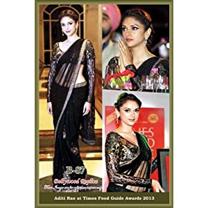 Bhuwal Fashion Net Bollywood Replica Sari, Black