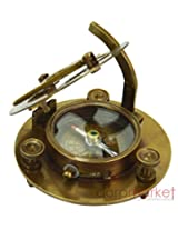 "Antique Nautical 3"" F.L.West London Brass Compass Sundial Vintage Collectible"