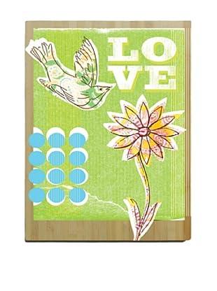 Artehouse Love Bird Bamboo Wood Sign