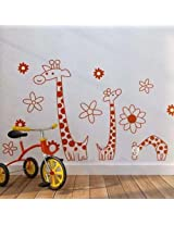 Reuse Giraffe PVC Wall Sticker JM7080