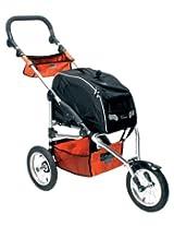 Petego Sport Trike Pet Stroller with Wagon Bag Carrier, Black