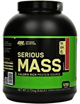 Optimum Nutrition Serious Mass, No Sugar Added - 6 lbs (Strawberry)