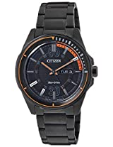 Citizen Eco-Drive Analog Black Dial Men's Watch - AW0035-51E