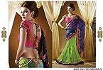 Designe Blue Green Net Embroidered Sari Saree Lehenga R1213 - for Designer Sarees by Bollywood Divas