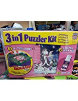 "3 in 1 Puzzler Kit with ""When Dreams Come True"" 550 Piece Jigsaw Puzzle 36"" Puzzle Roll-up"
