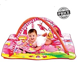 Multicolored Baby Bed Cum Play Gym For Kids by Handloom Daddy