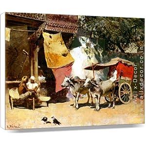 Wall x-Décor A Rural India Home-Canvas Art