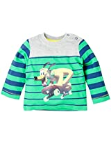 Infant Boys Full Sleeve T-Shirt With Stripe - Multi Colour (2-3 Years)