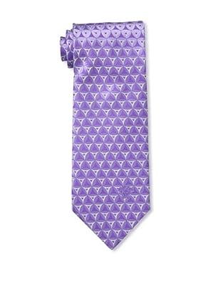 Versace Men's Patterned Tie, Purple