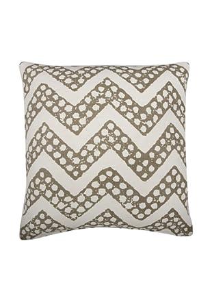 Thomas Paul Chevron Feather Pillow, Mushroom