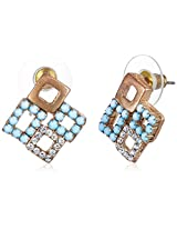 Addons Stud Earrings for Women (RVSD-EARGEN060 BLU)