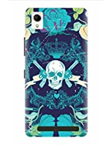Noise Well Of Skeleton Printed Cover for Intex Aqua Power Plus
