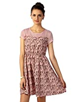 Allen Solly Pretty Pink Floral Printed Swing Dress