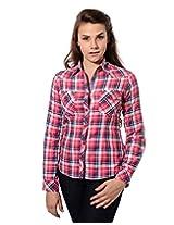 Mavango Full Sleeve Slim Fit Checkered Multicolour Women's Designer Shirt