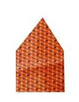 Navaksha Orange Geometrical Pocket Square