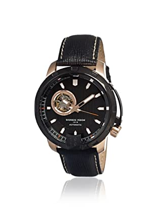 Giorgio Fedon 1919 Men's GFAQ002 Mechanical III Black Leather Watch