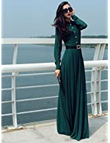 OnlyUrs European Style Temperament Vintage Women Dress