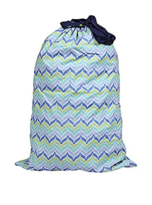 Malabar Bay Zig Zag Laundry Bag, Blue