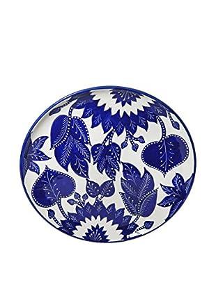 Le Souk Ceramique Jinane Round Platter, Blue/White
