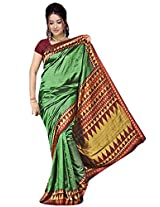 Kothari Printed Saree (KT0109MA_Green Maroon)