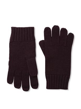 Cashmere Addiction Men's Solid Cashmere Gloves, Oxblood