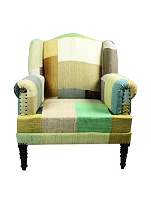 Melange Home Bengali One-of-a-Kind Chair, Mixed Citrus