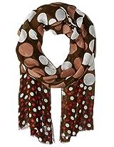 Saro Lifestyle Women's Drawn Work Design Shawl with Fringe, Olive, One Size
