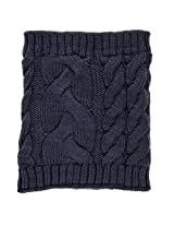 Noble Mount Mens Cable Knit Toaster Snood Scarf - Navy