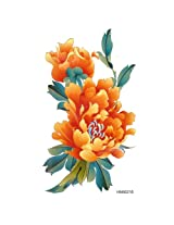 Ggsell King Horse Waterproof Yellow Peony Temporary Tattoo Hot Selling Colored Flowers