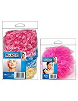 PANACHE Bath Puff & Shower Cap (Pack of 3) - Bath Essentials