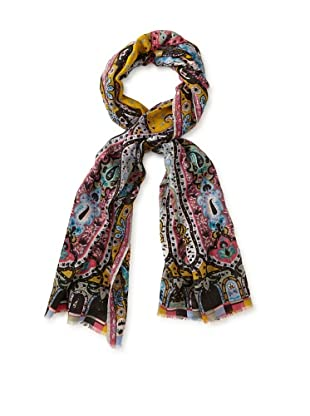 Etro Women's Saturated Print Scarf, Pink Multi