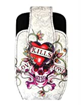 Ed Hardy Universal Love Kills Slowly Pouch - White