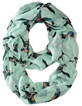 RAMPAGE Women's Conversational Light Weight Infinity Scarves, Aqua, One Size