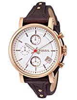 Fossil Original B Analog Silver Dial Women's Watch - ES3616