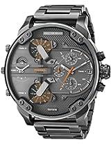 Diesel Mens DZ7315 The Daddies Series Analog Display Analog Quartz Grey Watch
